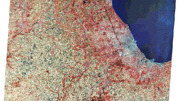 Landsat Image of the greater Chicago area
